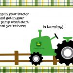 Free Printable John Deere Tractor Birthday | Paper Crafts   Free Printable John Deere Baby Shower Invitations