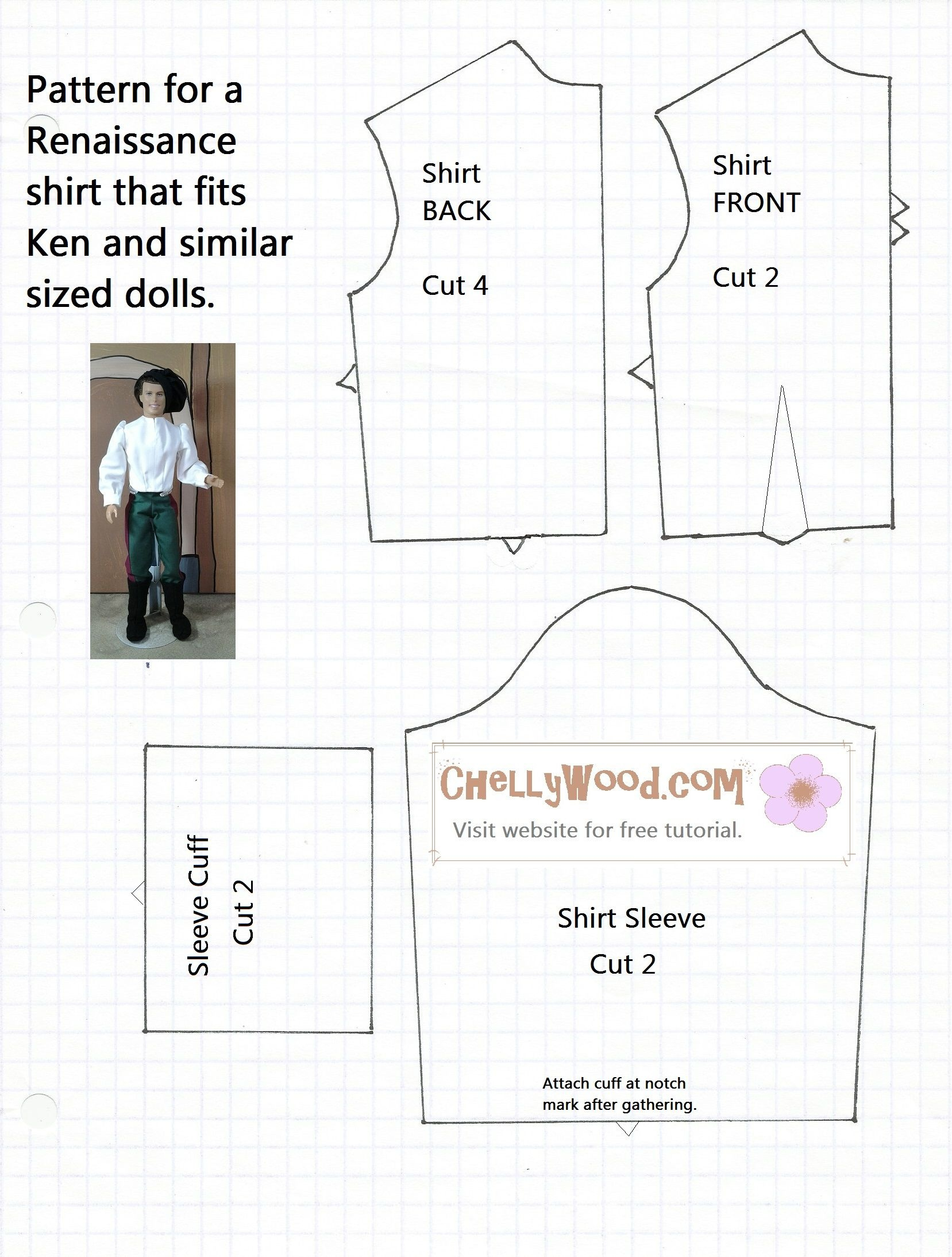 Free Printable Ken Doll Clothes Patterns - Google Search | Barbie - Easy Barbie Clothes Patterns Free Printable
