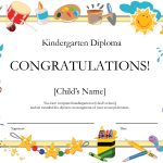 Free Printable Kindergarten Graduation Certificate Template | Umi   Free Printable Children's Certificates Templates