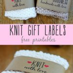 Free Printable Knit Gift Labels – Everythingetsy – Free Printable Dishcloth Wrappers