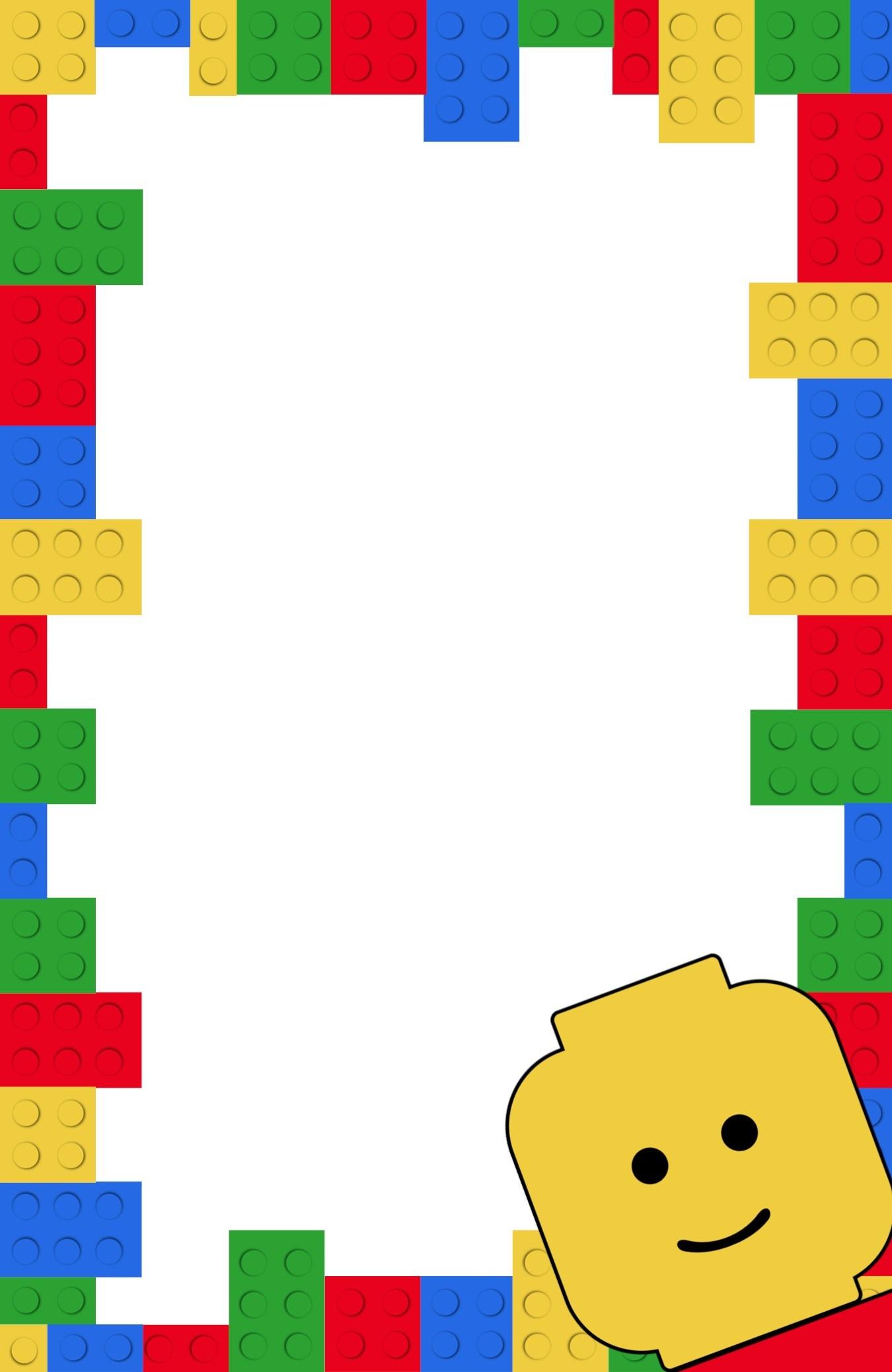 Free Printable Lego Birthday Party Invitation Template - Paper Trail - Lego Party Invitations Printable Free