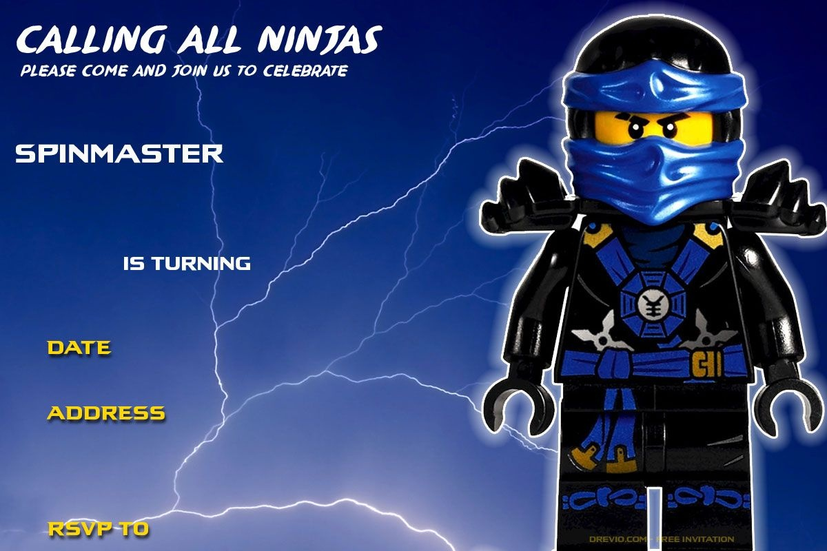 Free Printable Lego Ninjago Birthday Invitation | Birthday Ideas - Lego Ninjago Party Invitations Printable Free