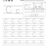 Free Printable Letter C Writing Practice Worksheet For Kindergarten   Free Printable Letter C Worksheets