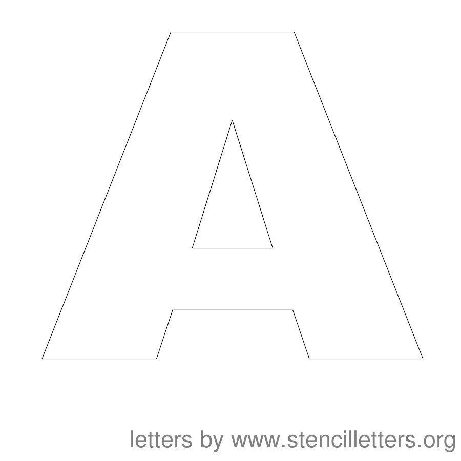 Free Printable Letter Stencils | Stencil Letters 12 Inch Uppercase - Free Printable Alphabet Stencils