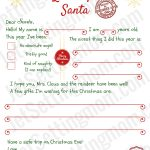 Free Printable Letter To Santa Template   Writing To Santa Made Easy!   Free Printable Christmas Letters From Santa