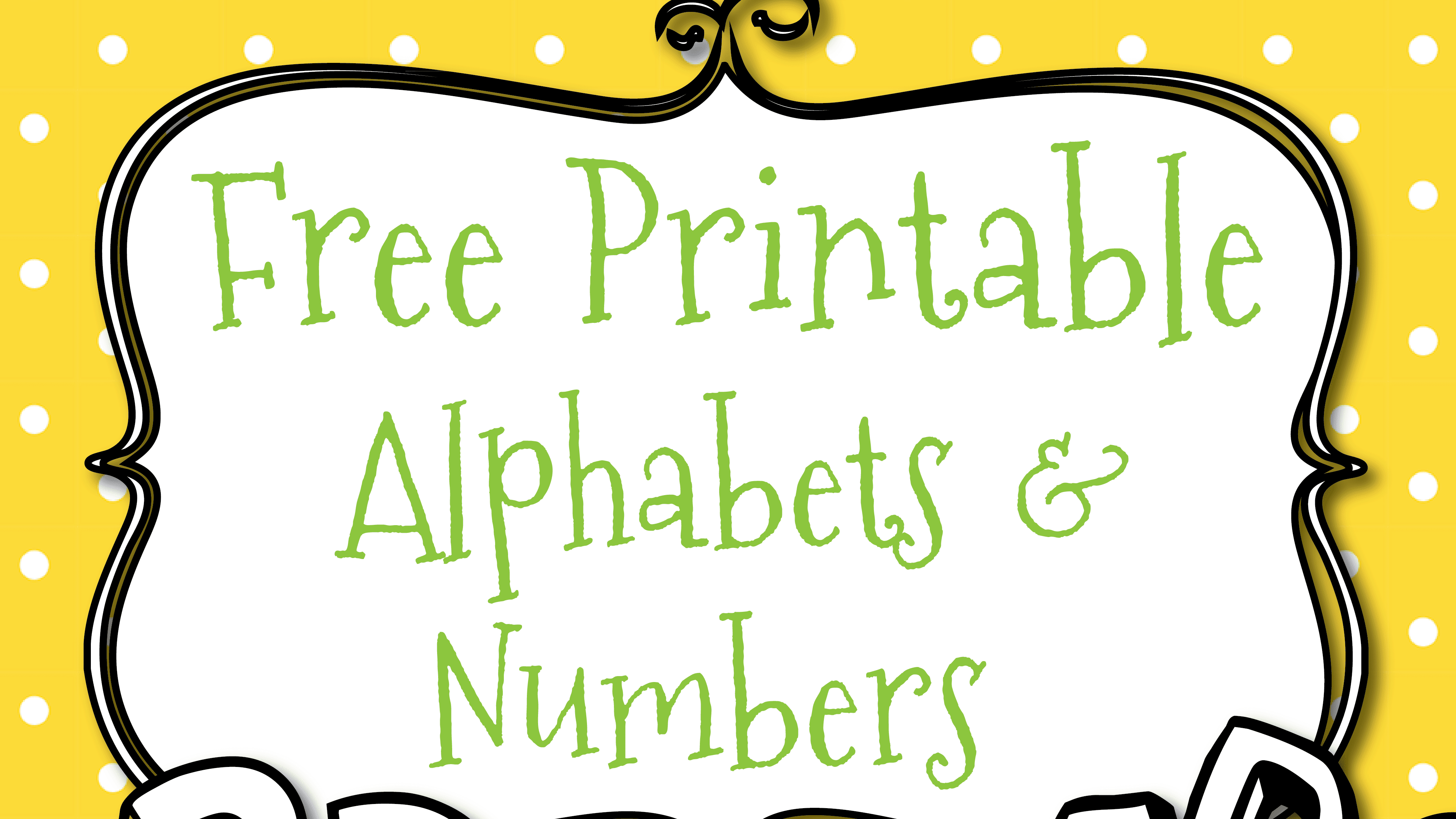 Free Printable Letters And Numbers For Crafts - Free Printable Numbers