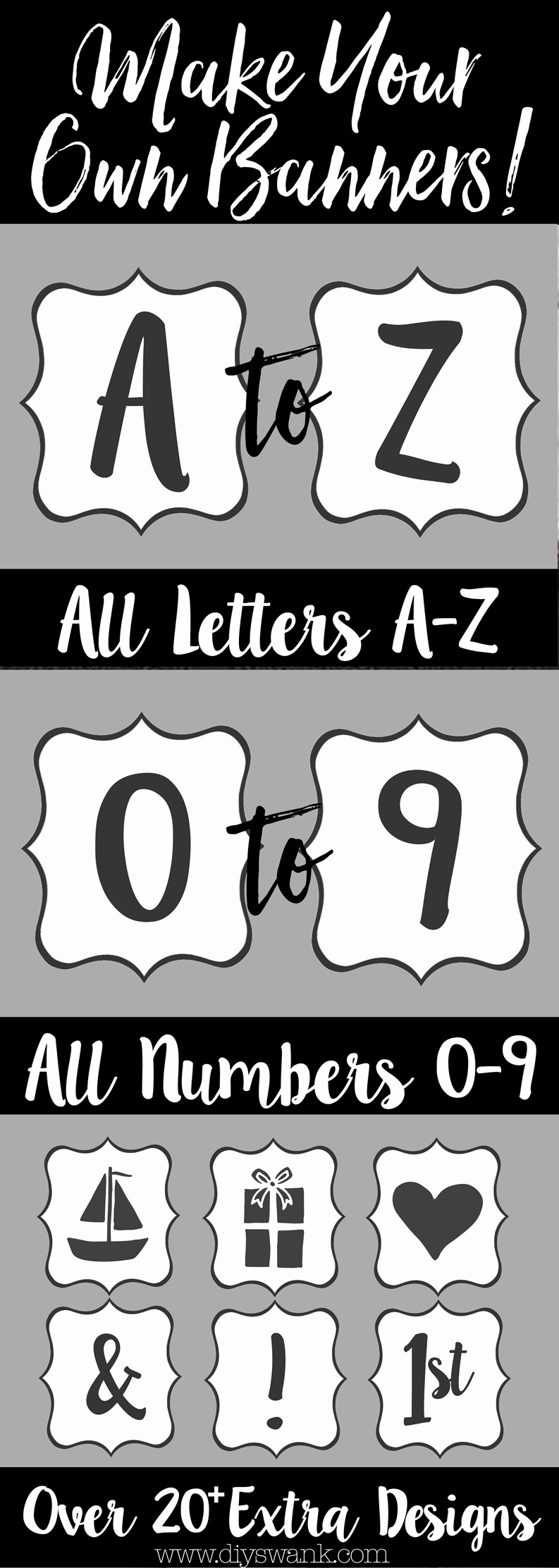 Free Printable Letters For Banners | Party Ideas | Printable Banner - Free Printable Letters Az