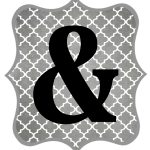 Free Printable Letters Gray And Black   Diy Swank   Diy Swank Free Printable Letters