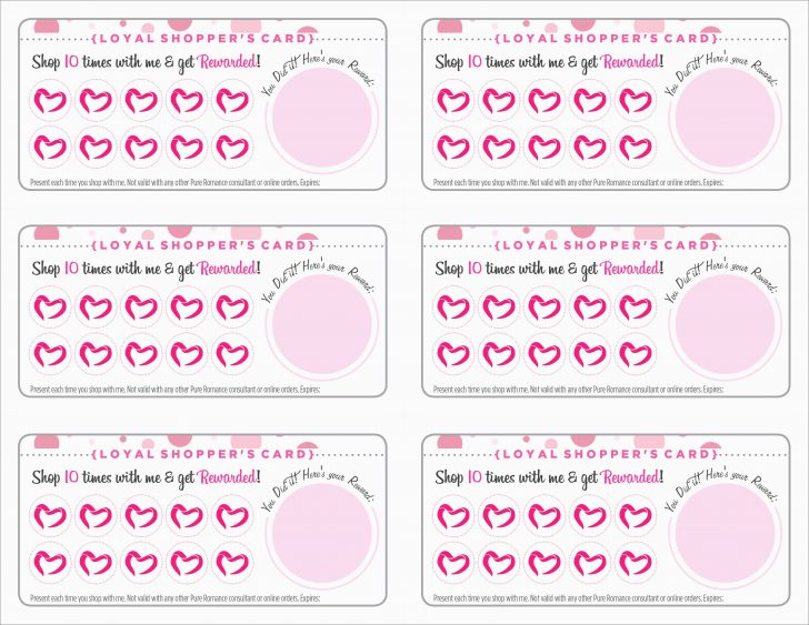 Free Printable Loyalty Card Template