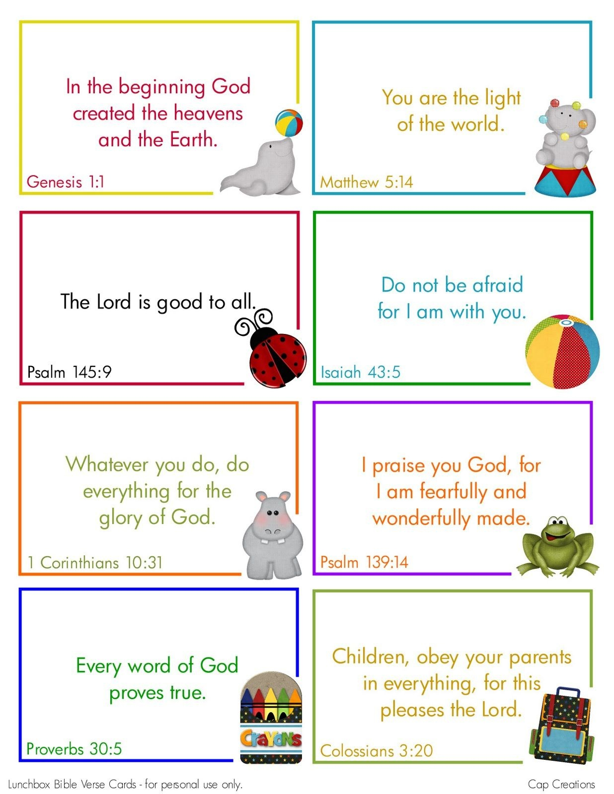 Free Printable Lunchbox Bible Verse Cards | Printables | Bible - Free Printable Bible Verses For Children