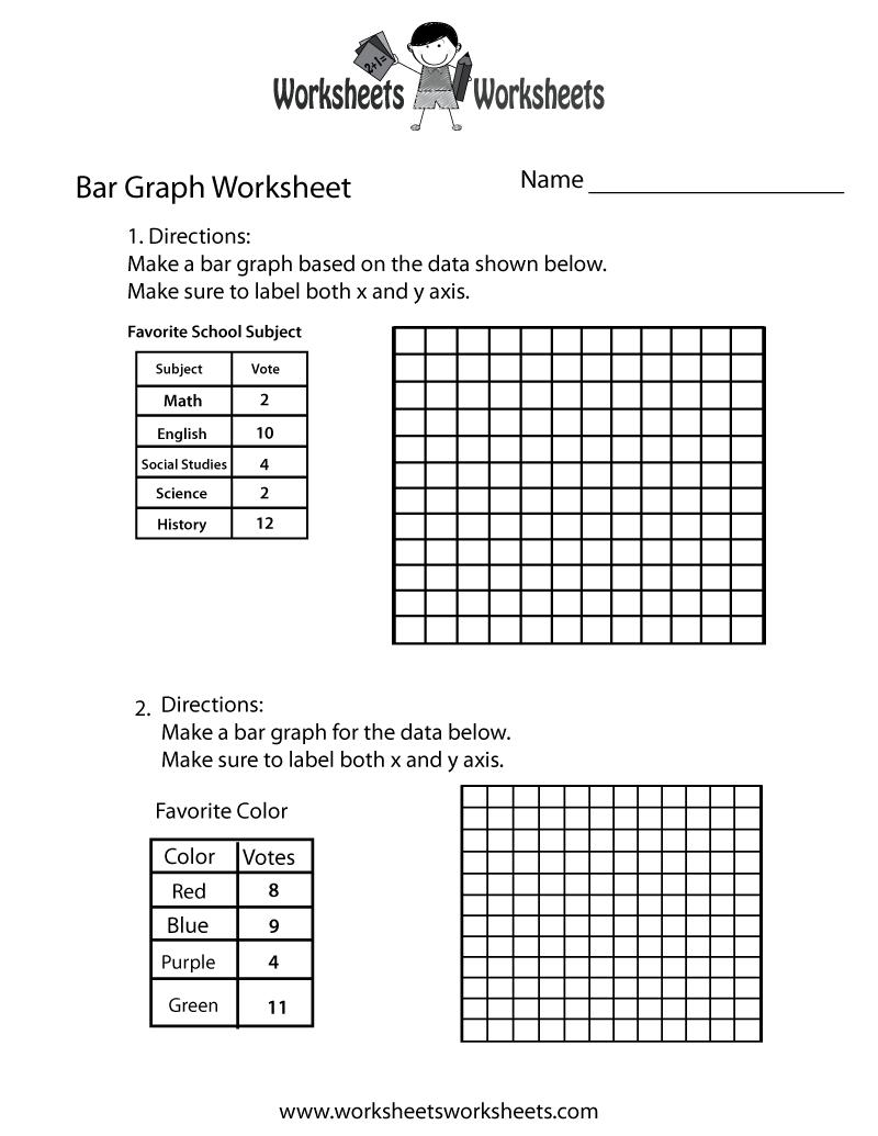 Free Printable Making Bar Graph Worksheet - Free Printable Bar Graph