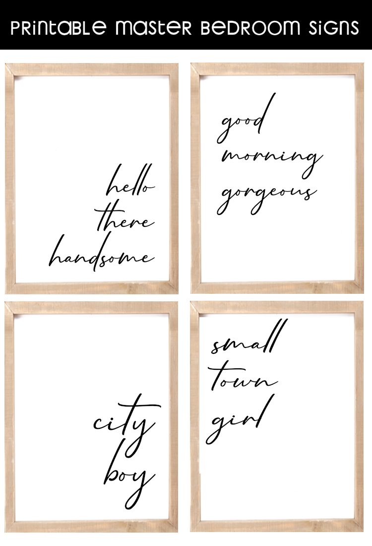 Free Printable Master Bedroom Signs - The Girl Creative - Free Printable Bedroom Door Signs