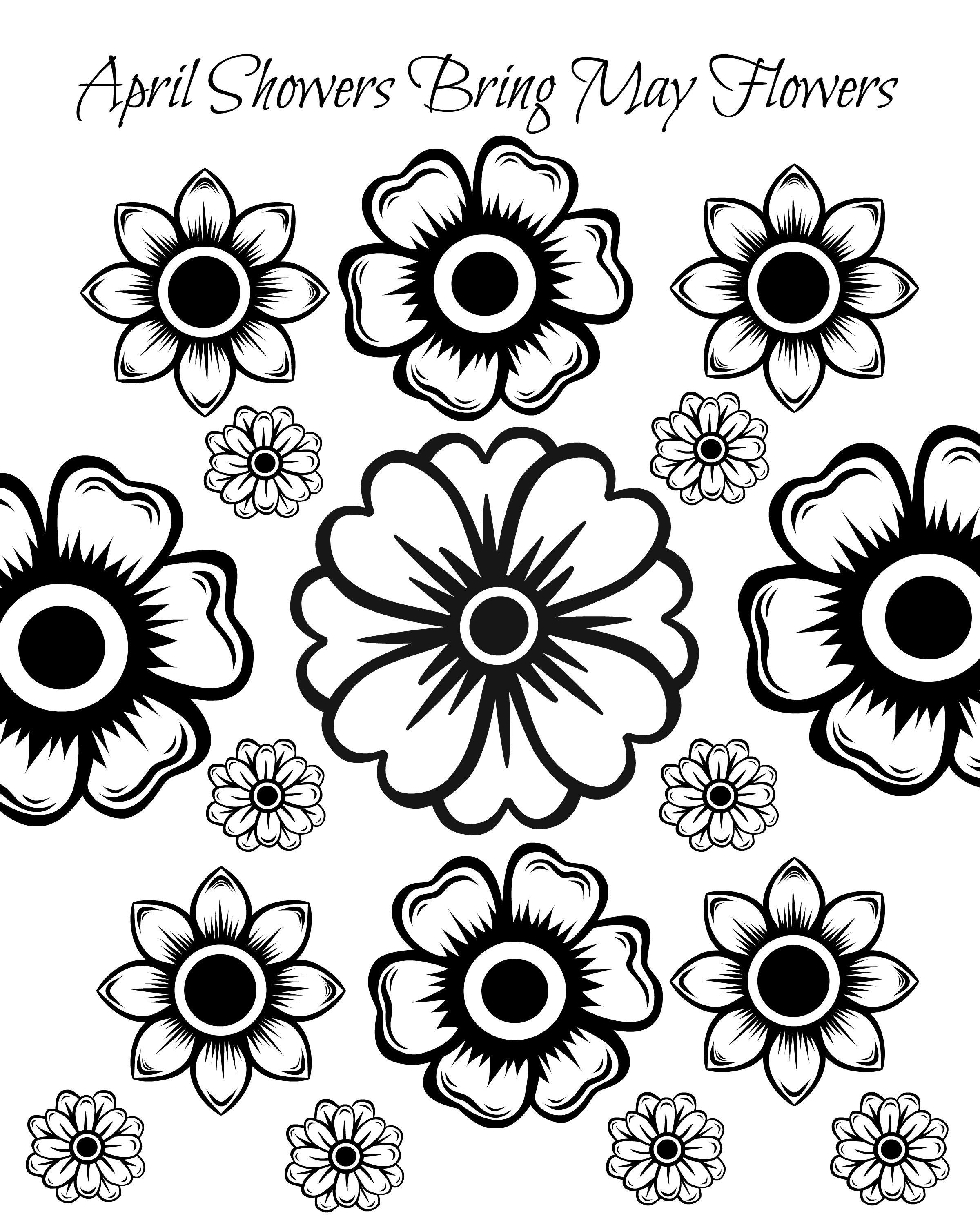 Free Printable May Flowers Adult Coloring Page | Kids - Family - Free Printable Flower Coloring Pages For Adults