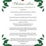Free Printable Menu Templates Christmas Menu Templates Free Page Not   Christmas Menu Printable Template Free