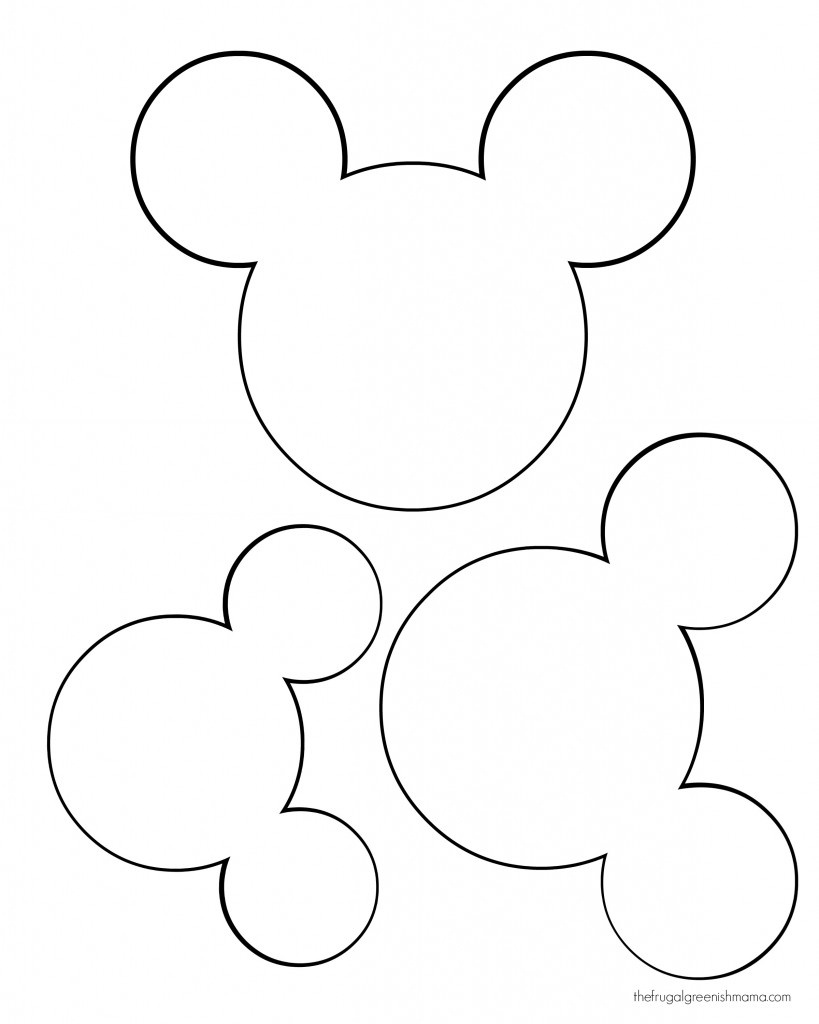 Free Printable Mickey Mouse Head, Download Free Clip Art, Free Clip - Free Mickey Mouse Printable Templates