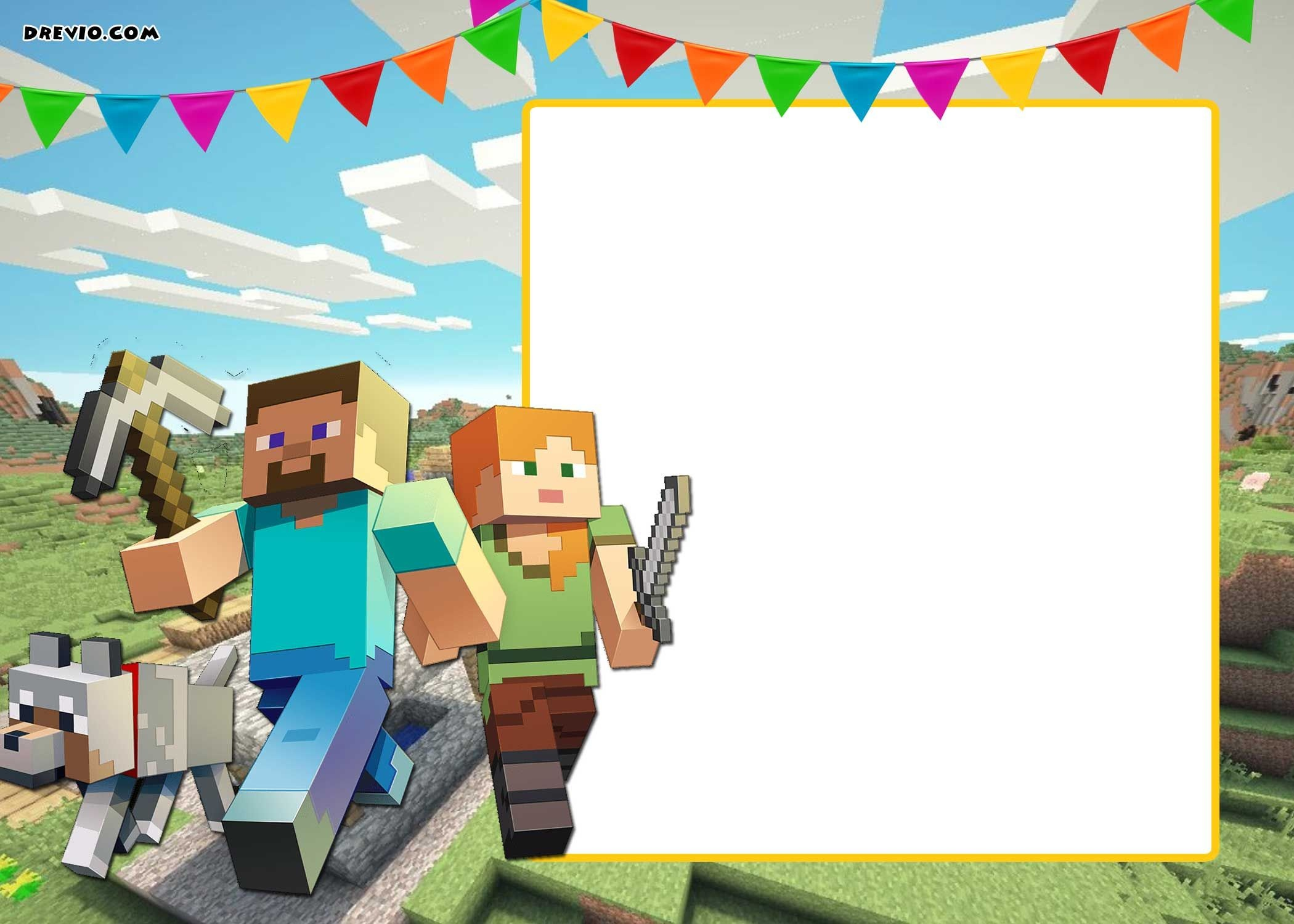 Free Printable Minecraft Birthday Invitation | Party Printables - Free Printable Minecraft Birthday Party Invitations Templates
