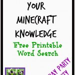 Free Printable Minecraft Crossword Search: Test Your Minecraft   Free Printable Minecraft Activity Pages