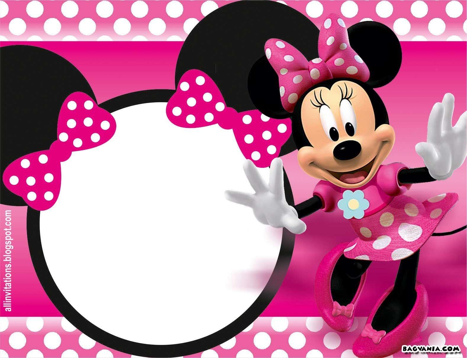 Free Printable Minnie Mouse Birthday Invitations – Bagvania Free - Free Minnie Mouse Printable Templates