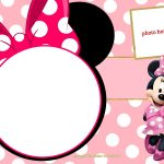 Free Printable Minnie Mouse Pinky Birthday Invitation | Minnie's   Free Printable Mickey Mouse Invitations