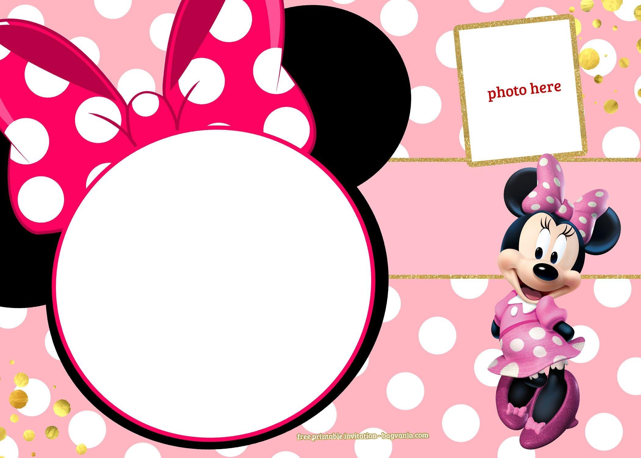 Free Printable Minnie Mouse Pinky Birthday Invitation | Minnie's - Free Printable Minnie Mouse Invitations