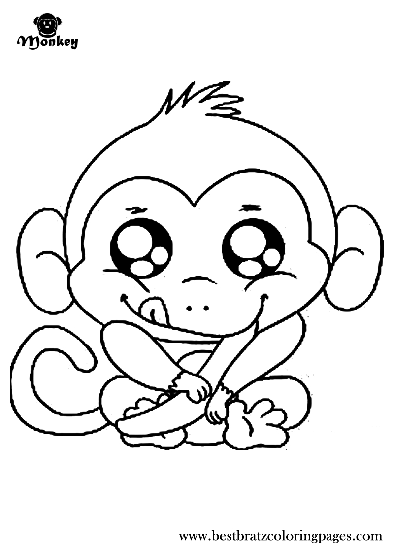 Free Printable Monkey Coloring Pages For Kids | Coloring Pages - Free Printable Monkey Coloring Pages