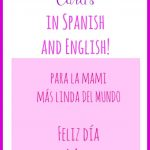 Free Printable Mother's Day Cards In Spanish And English   Mother's   Free Spanish Mothers Day Cards Printable