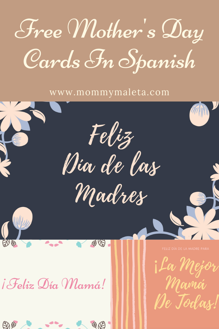Free Printable Mother's Day Cards In Spanish - Mommymaleta - Free Spanish Mothers Day Cards Printable