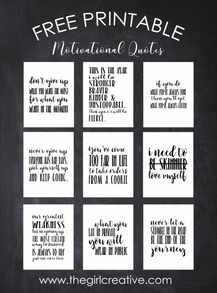 Free Printable Inspirational Quotes