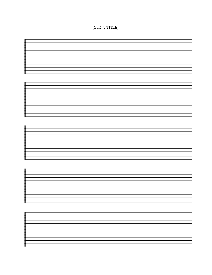 Free Printable Music Staff Sheet 5 Double Lines - Download This Free - Free Printable Music Staff