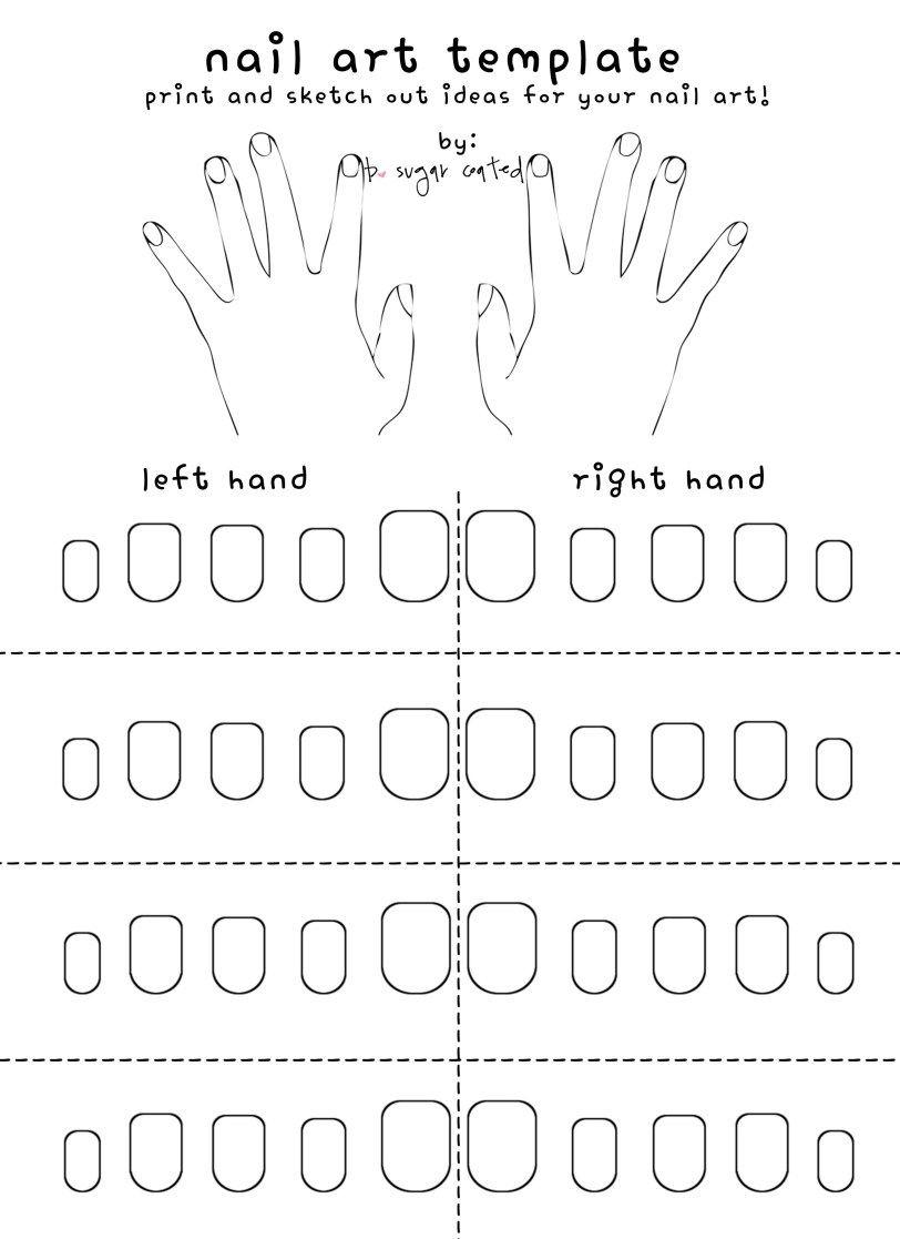Free Printable Nail Art Template | Nails | Nail Art Stencils, Nail - Free Printable Nail Art Designs