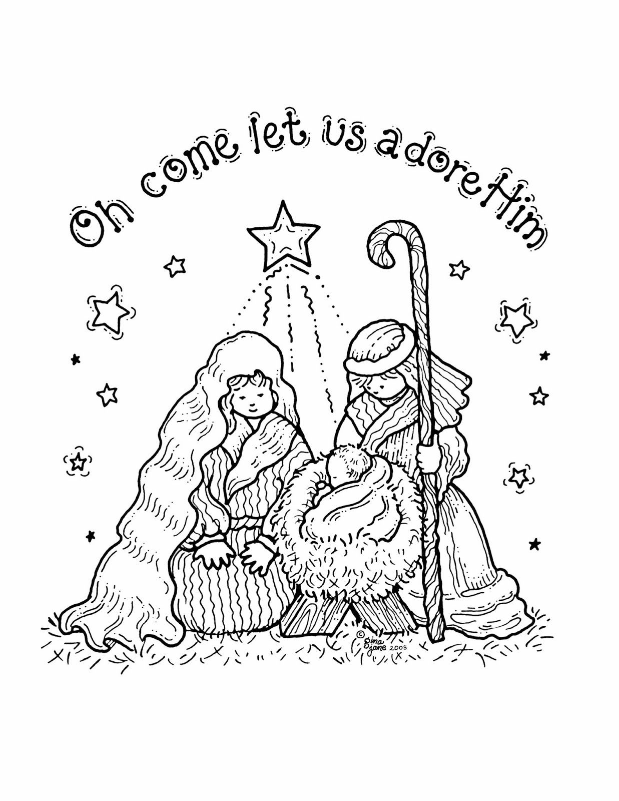 Free Printable Nativity Coloring Pages For Kids | Projects To Try - Free Printable Christmas Baby Jesus Coloring Pages