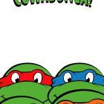 Free Printable Ninja Turtle Birthday Party Invitations – Bagvania   Free Printable Ninja Turtle Birthday Banner