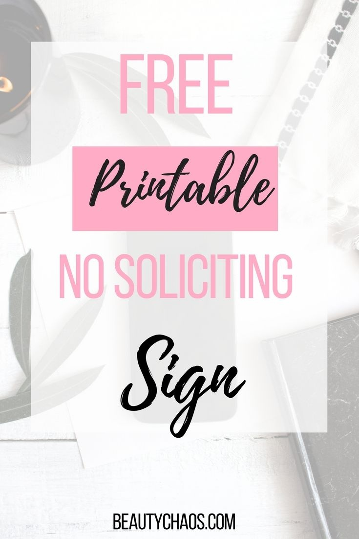 Free Printable No Soliciting Sign | Best Of Beauty Chaos | No - Free Printable No Soliciting Sign