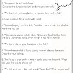 Free Printable Noah's Ark Writing Prompts | Ultimate Homeschool   Free Printable Bible Stories For Youth