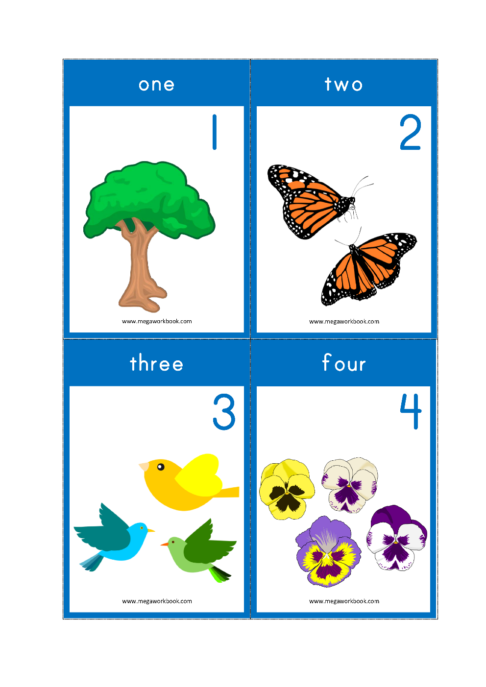 Free Printable Number Flashcards - Counting Flashcards 1-10 For Kids - Free Printable Number Flashcards 1 30