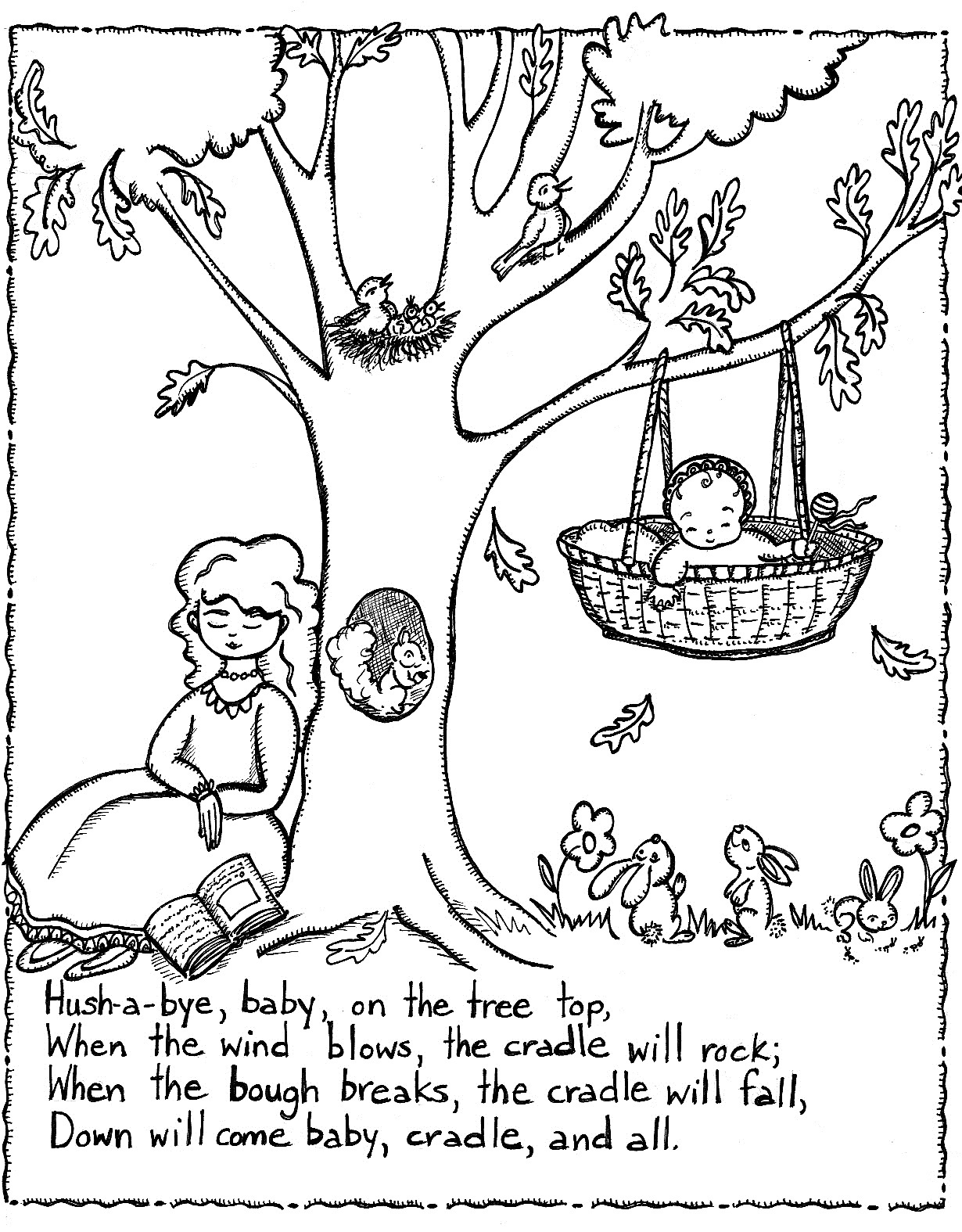Free Printable Nursery Rhymes Coloring Pages For Kids - Free Printable Mother Goose Nursery Rhymes