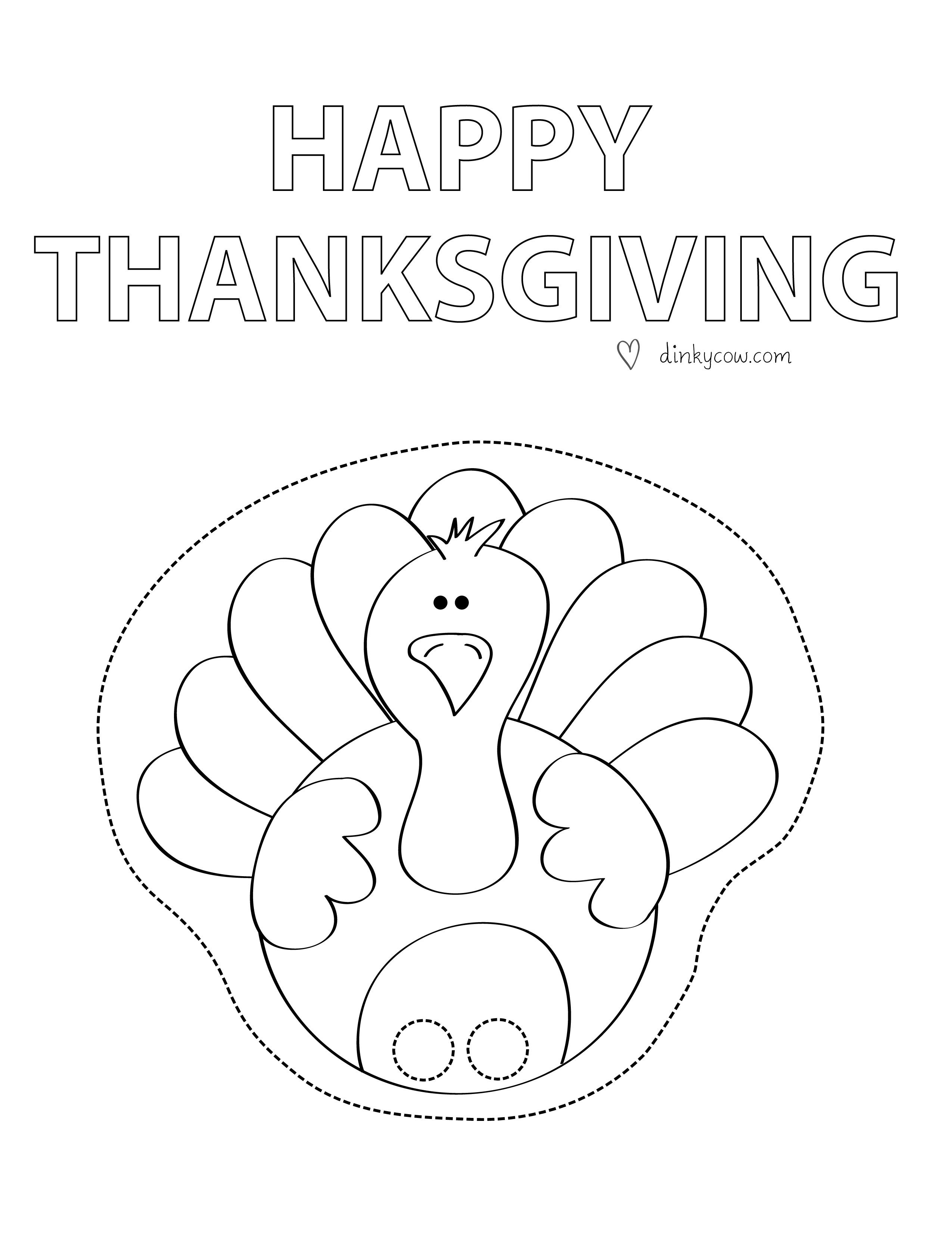 Free Printable Paper Craft- Happy Thanksgiving Finger Puppet Turkey - Free Printable Turkey Craft