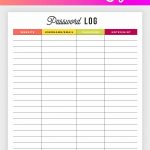Free Printable Password Log | House | Password Printable, Free   Free Printable Password Keeper