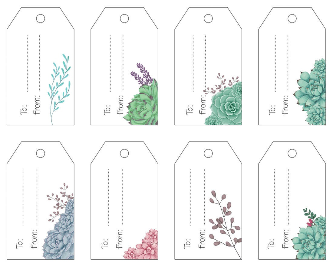 Free Printable .pdf Gift Tags | Maggie Stilwell Design - Free Printable To From Gift Tags