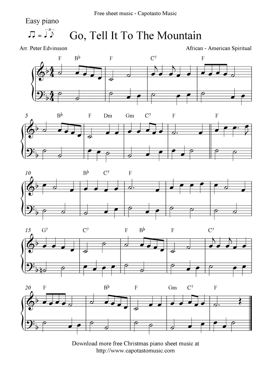 Free Printable Piano Sheet Music | Free Sheet Music Scores: Easy - Christmas Songs Piano Sheet Music Free Printable