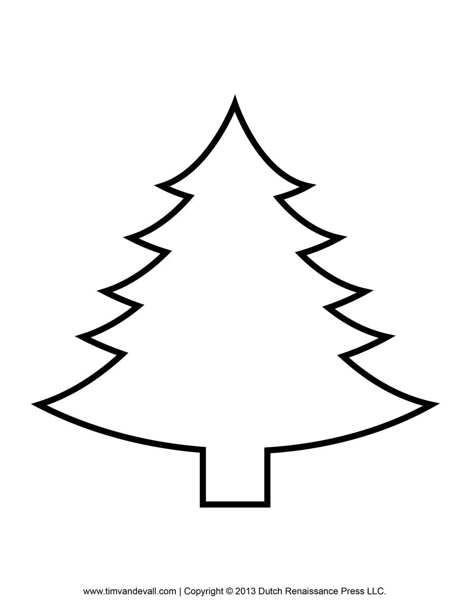 Free Printable Pictures Of Christmas Trees Have A Very Craftychic - Free Printable Christmas Tree Template