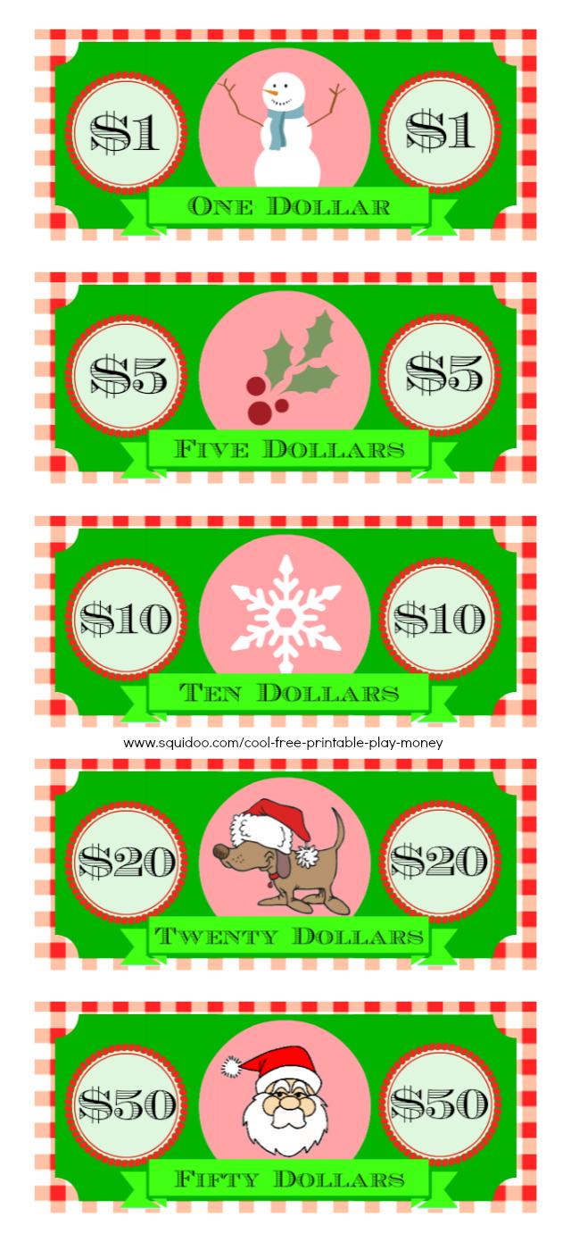 Free Printable Play Money Kids Will Love | Elf On A Shelf - Free Printable Money For Kids