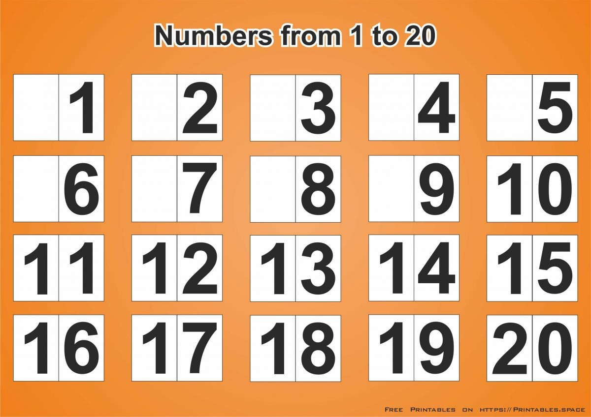 Free Printable Poster With Numbers From 1 To 20 - Free Printables - Free Printable Number Posters