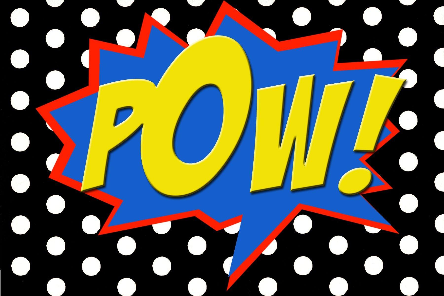 Free Printable Pow! Comic Book Word. | Super Hero Party In 2019 - Free Printable Superhero Words
