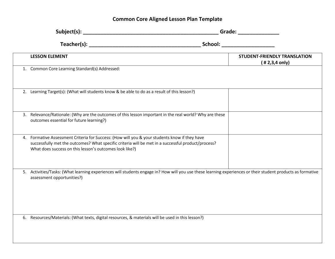 Free Printable Preschool Weekly Lesson Plan Templates Plans Lessons - Free Printable Preschool Teacher Resources