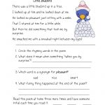 Free Printable Reading Comprehension Worksheets For Kindergarten – Free Printable Reading Passages With Questions