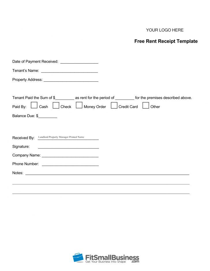 Free Printable Rent Receipt