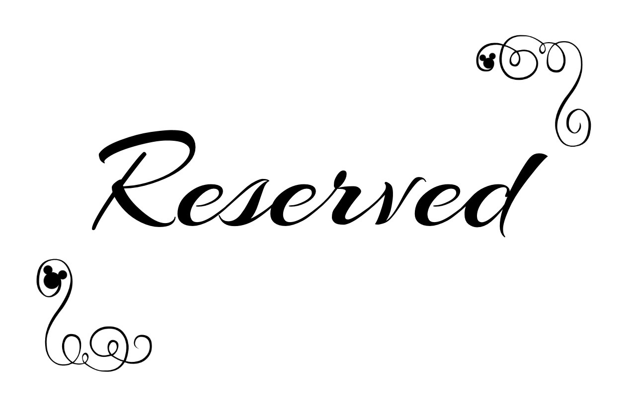 Free Printable Reserved Seating Signs For Your Wedding Ceremony - Free Printable Reserved Table Signs