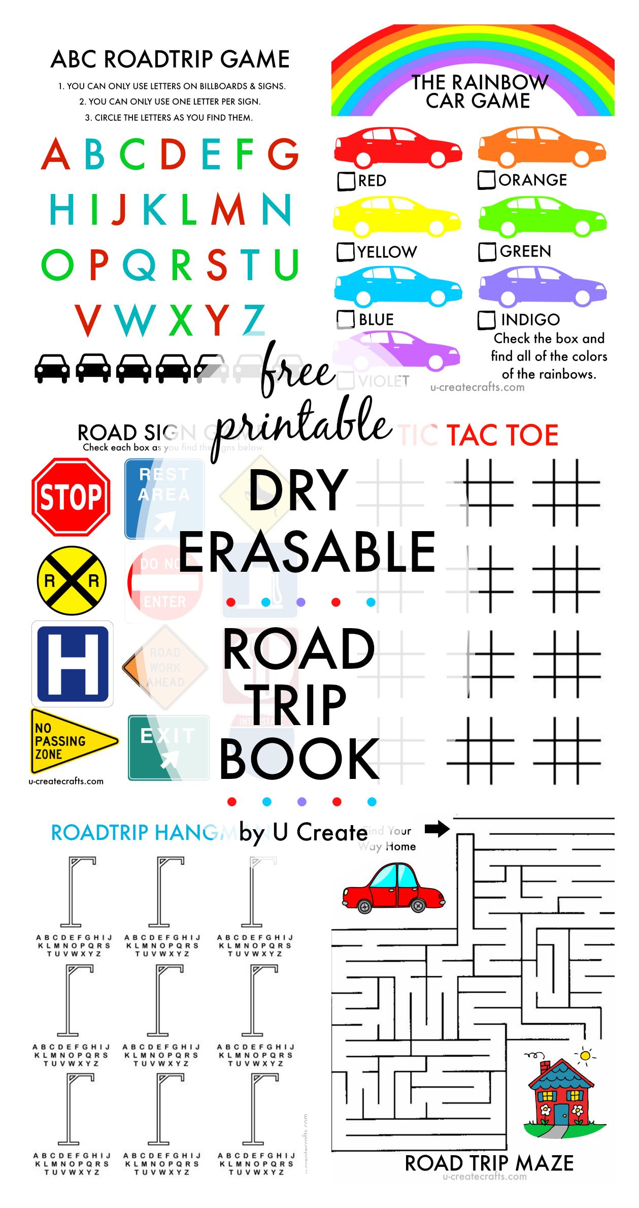 Free Printable Road Trip Book - Free Printable Hangman Game