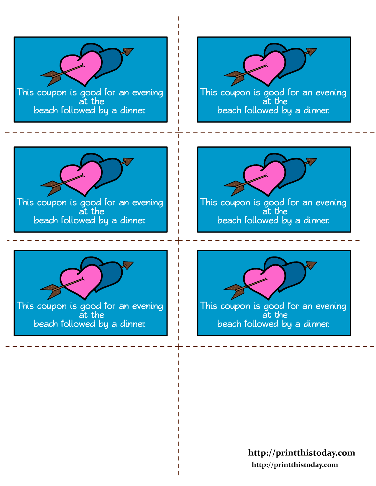 Free Printable Romantic Love Coupons - Free Printable Love Certificates For Him